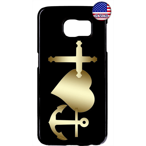 Christian Bible Cross Love Anchor Rubber Case Cover For Samsung Galaxy Note