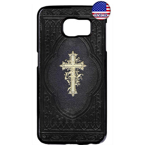 Cross on Bible Jesus Christ Christian Rubber Case Cover For Samsung Galaxy