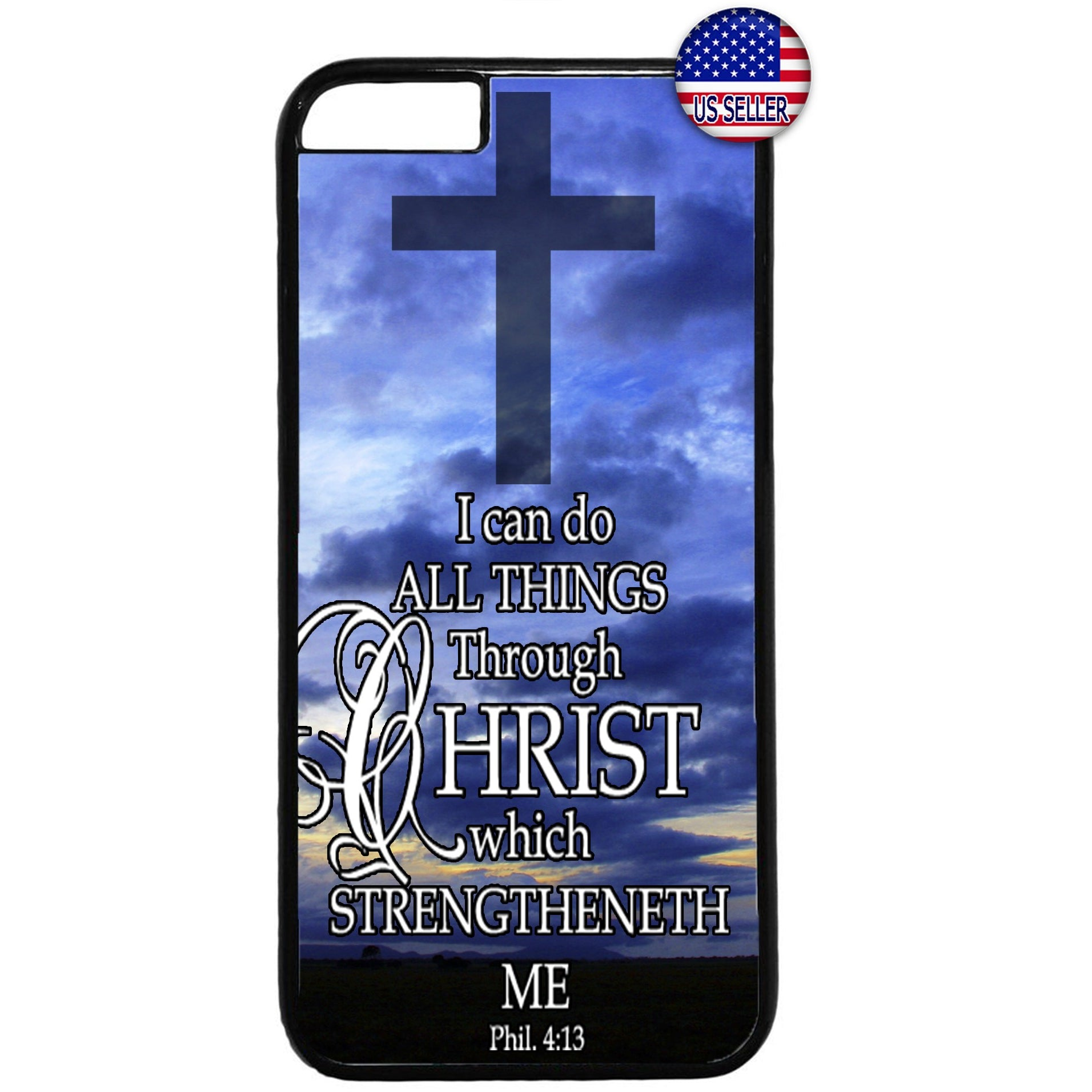 Christian Cross Jesus Christ Bible Verse Rubber Case Cover For Iphone