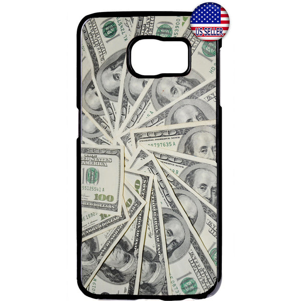 $100 Dollar Bills Money Rubber Case Cover For Samsung Galaxy