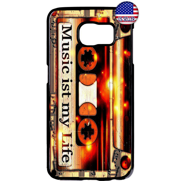 Music My Life Cassette Rubber Case Cover For Samsung Galaxy Note