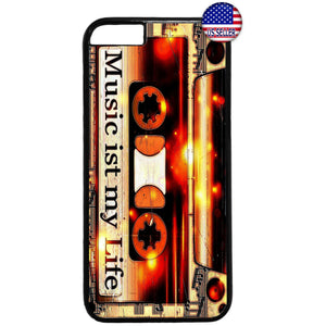 Music My Life Cassette Rubber Case Cover For Iphone