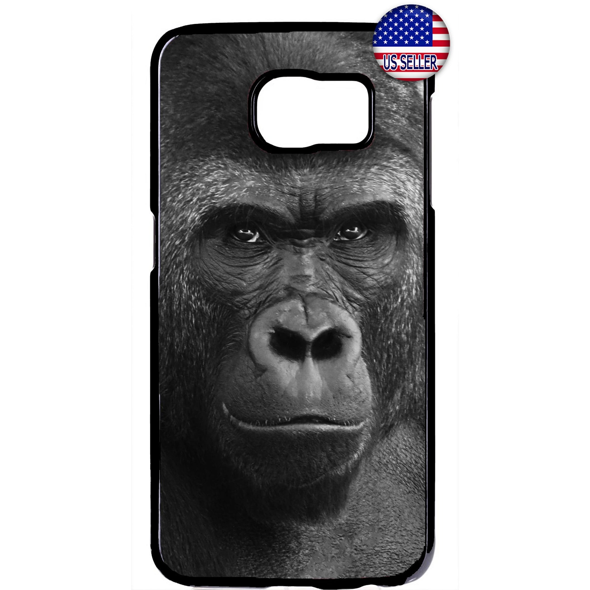 Wild Gorilla Monkey Rubber Case Cover For Samsung Galaxy