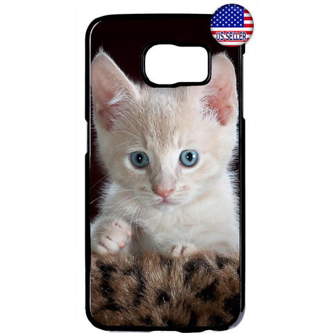 Cute White Kitty Cat Pet Rubber Case Cover For Samsung Galaxy