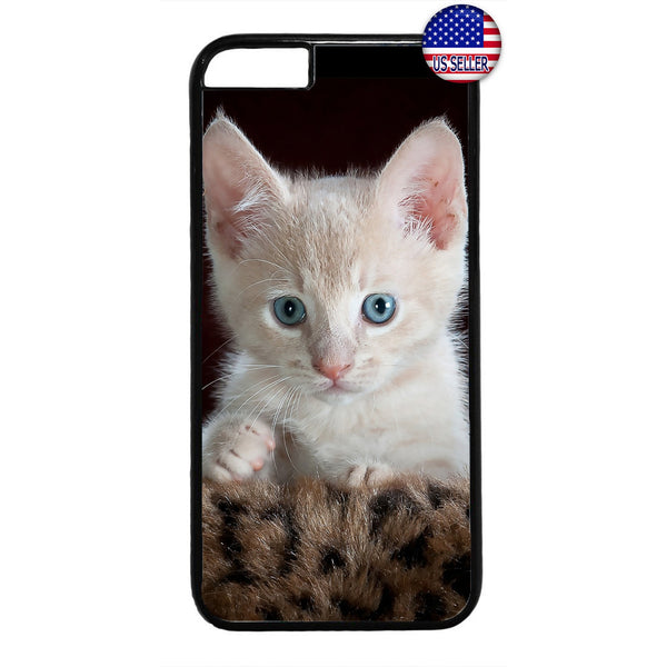Cute White Kitty Cat Pet Rubber Case Cover For Iphone