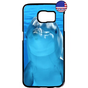 Cute Dolphin In Ocean Rubber Case Cover For Samsung Galaxy