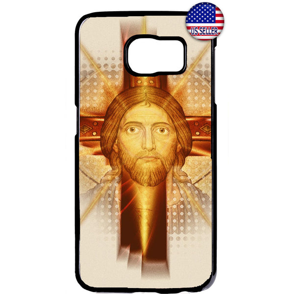 Jesus Christ Face Cross Christian Rubber Case Cover For Samsung Galaxy