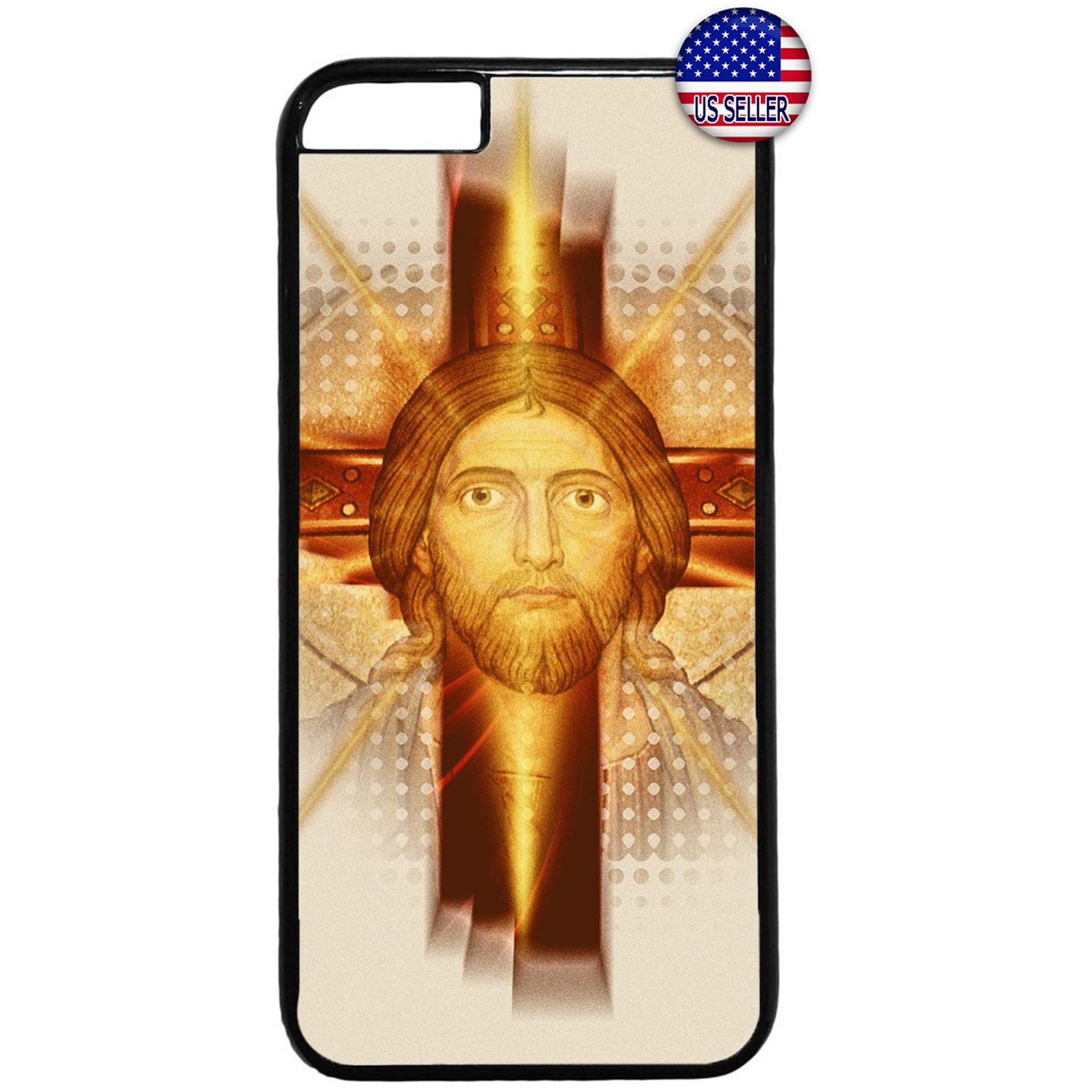 Jesus Christ Face Cross Christian Rubber Case Cover For Iphone
