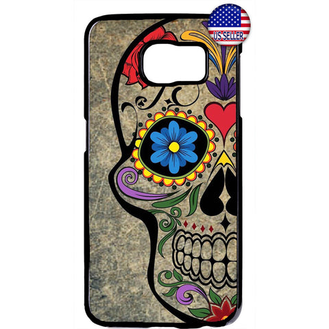 Mexican Day Sugar Skull Dia De Los Muertos Rubber Case Cover For Samsung Galaxy