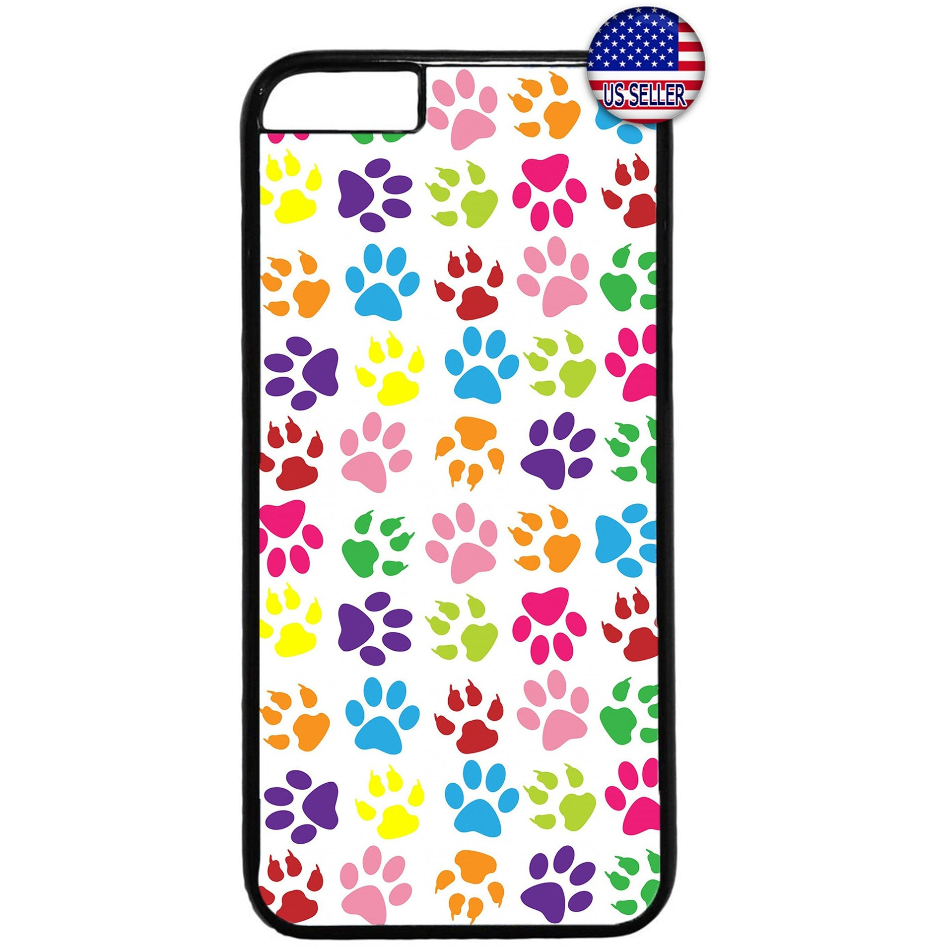 Paws Cats Dogs Colorful Rubber Case Cover For Iphone