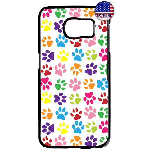 Paws Cats Dogs Colorful Rubber Case Cover For Samsung Galaxy