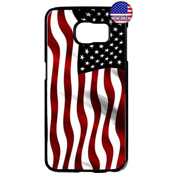 Wavy USA Flag America Rubber Case Cover For Samsung Galaxy