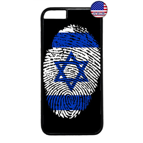 Israel Flag Finger Print Rubber Case Cover For Iphone