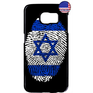 Israel Flag Finger Print Rubber Case Cover For Samsung Galaxy