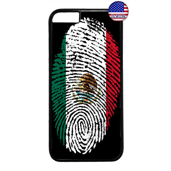Mexico Flag Finger Print Rubber Case Cover For Iphone