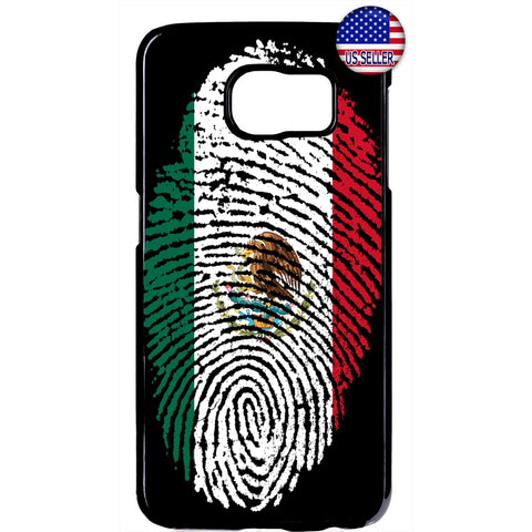 Mexico Flag Finger Print Rubber Case Cover For Samsung Galaxy