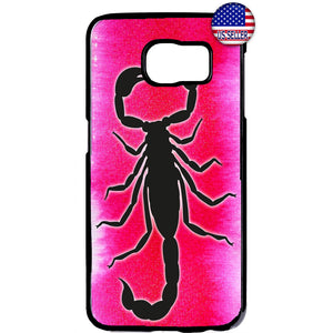 Scorpion Sign Pink Venom Rubber Case Cover For Samsung Galaxy
