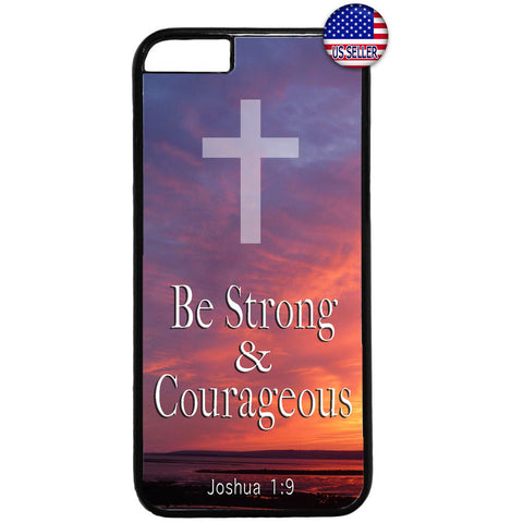 Be Strong Christ Bible Christian Rubber Case Cover For Iphone