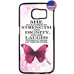 Butterfly Verse Christian Jesus Christ Rubber Case Cover For Samsung Galaxy Note