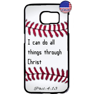 Christian Bible Verse Baseball Jesus Christ Rubber Case Cover For Samsung Galaxy