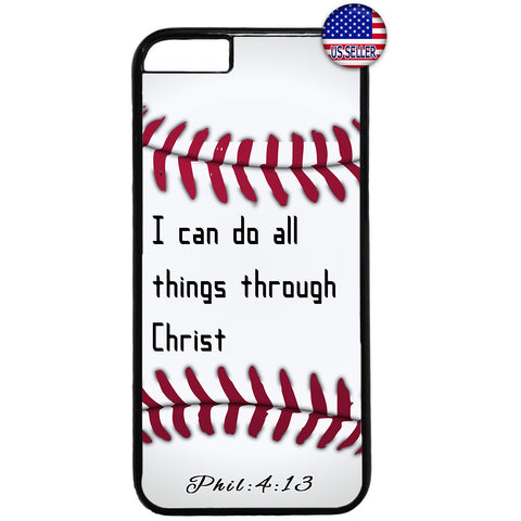 Christian Bible Verse Baseball Jesus Christ Rubber Case Cover For Iphone