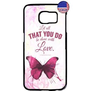 Butterfly Love Bible Verse Rubber Case Cover For Samsung Galaxy Note