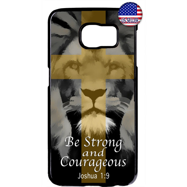 Bible Cross Strong Lion Rubber Case Cover For Samsung Galaxy