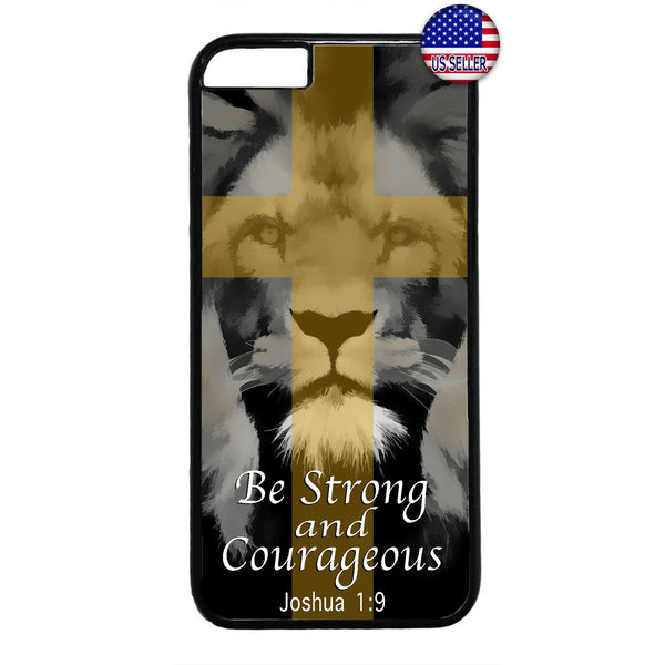Bible Cross Strong Lion Rubber Case Cover For Iphone