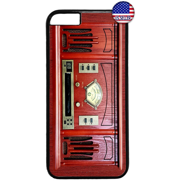 Vintage Retro Red Radio Rubber Case Cover For Iphone
