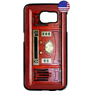 Vintage Retro Red Radio Rubber Case Cover For Samsung Galaxy