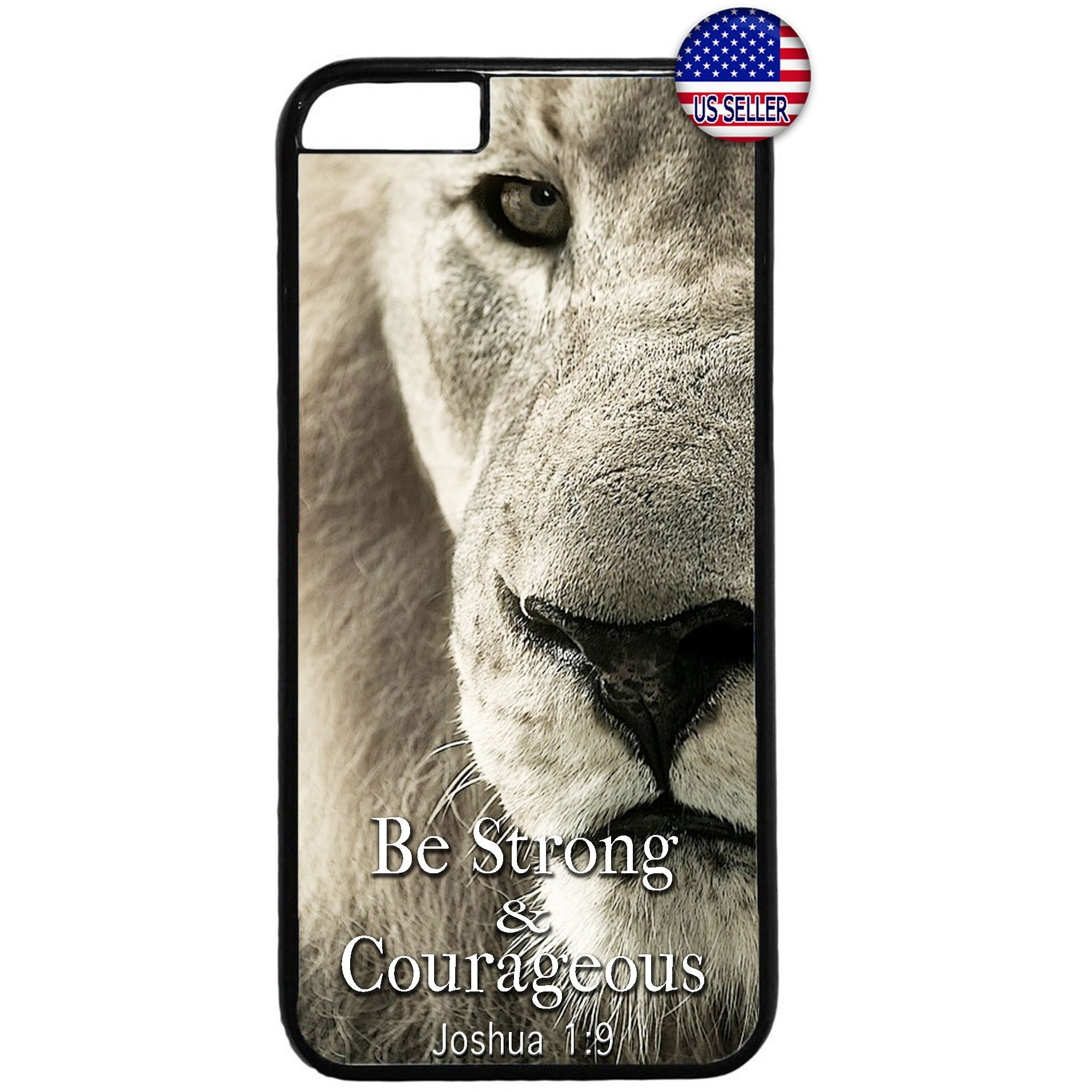 Bible Verse Lion Christ Christian Rubber Case Cover For Iphone