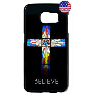 Believe Cross Bible Jesus Christian Rubber Case Cover For Samsung Galaxy Note