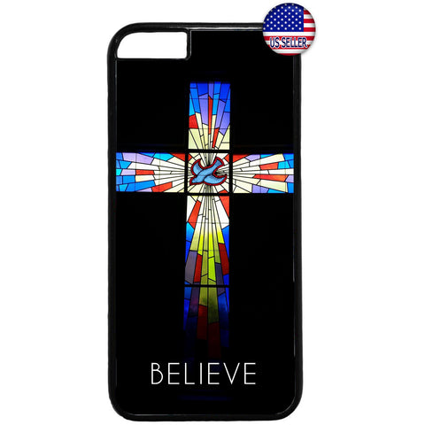 Believe Cross Bible Jesus Christian Rubber Case Cover For Iphone