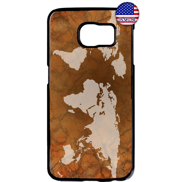 World Map Retro Globe Rubber Case Cover For Samsung Galaxy