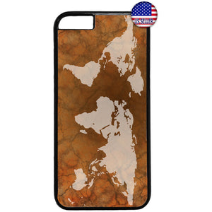 World Map Retro Globe Rubber Case Cover For Iphone