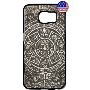 Aztec Calendar Mayan Native Stone Pattern Rubber Case Cover For Samsung Galaxy Note