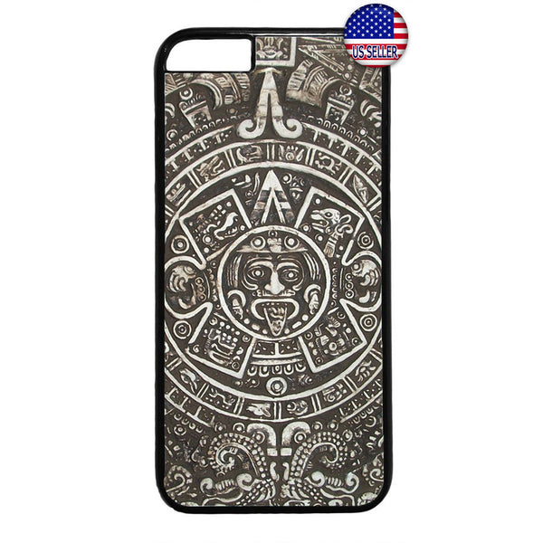 Aztec Calendar Mayan Native Stone Pattern Rubber Case Cover For Iphone
