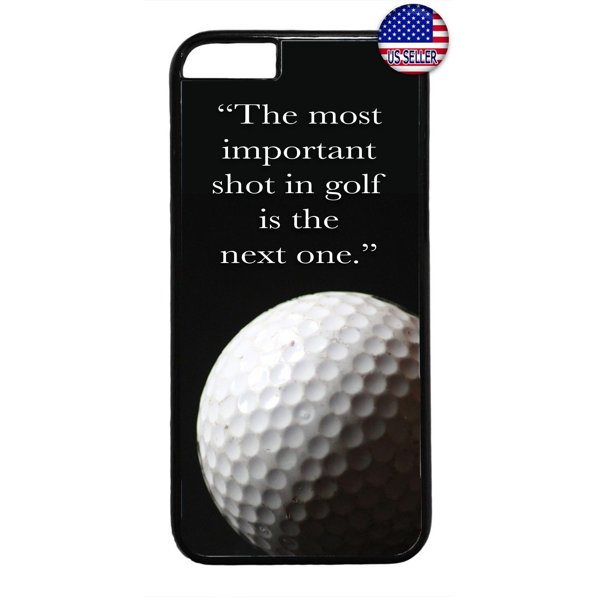 Golf Ball The Next Shot Rubber Case Cover For Iphone