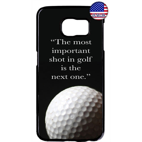 Golf Ball The Next Shot Rubber Case Cover For Samsung Galaxy