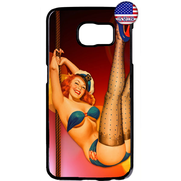 Sexy Sailor Pin Up Girl Rubber Case Cover For Samsung Galaxy Note
