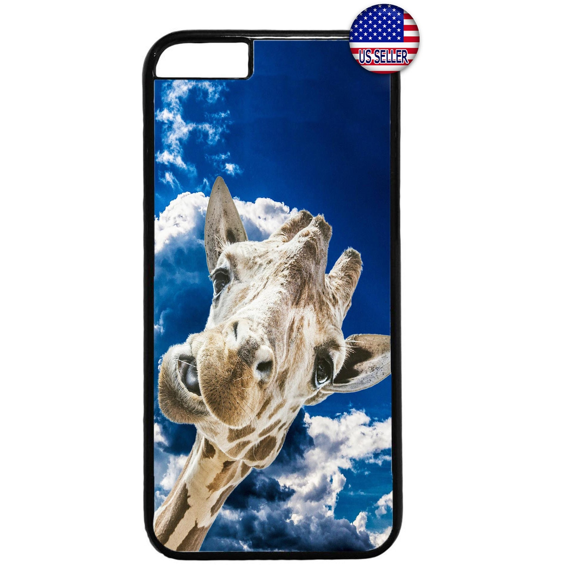 Funny Wild Giraffe Zoo Rubber Case Cover For Iphone