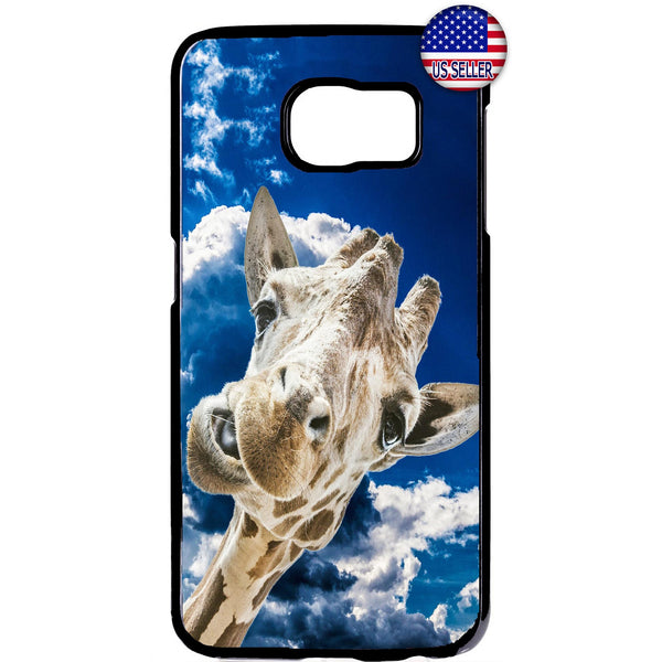 Funny Wild Giraffe Zoo Rubber Case Cover For Samsung Galaxy