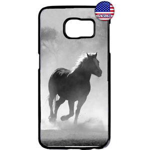 Horse Running Wild Free Rubber Case Cover For Samsung Galaxy