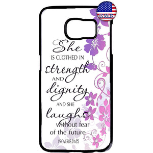 Christian Bible Verse Women No Fear Rubber Case Cover For Samsung Galaxy