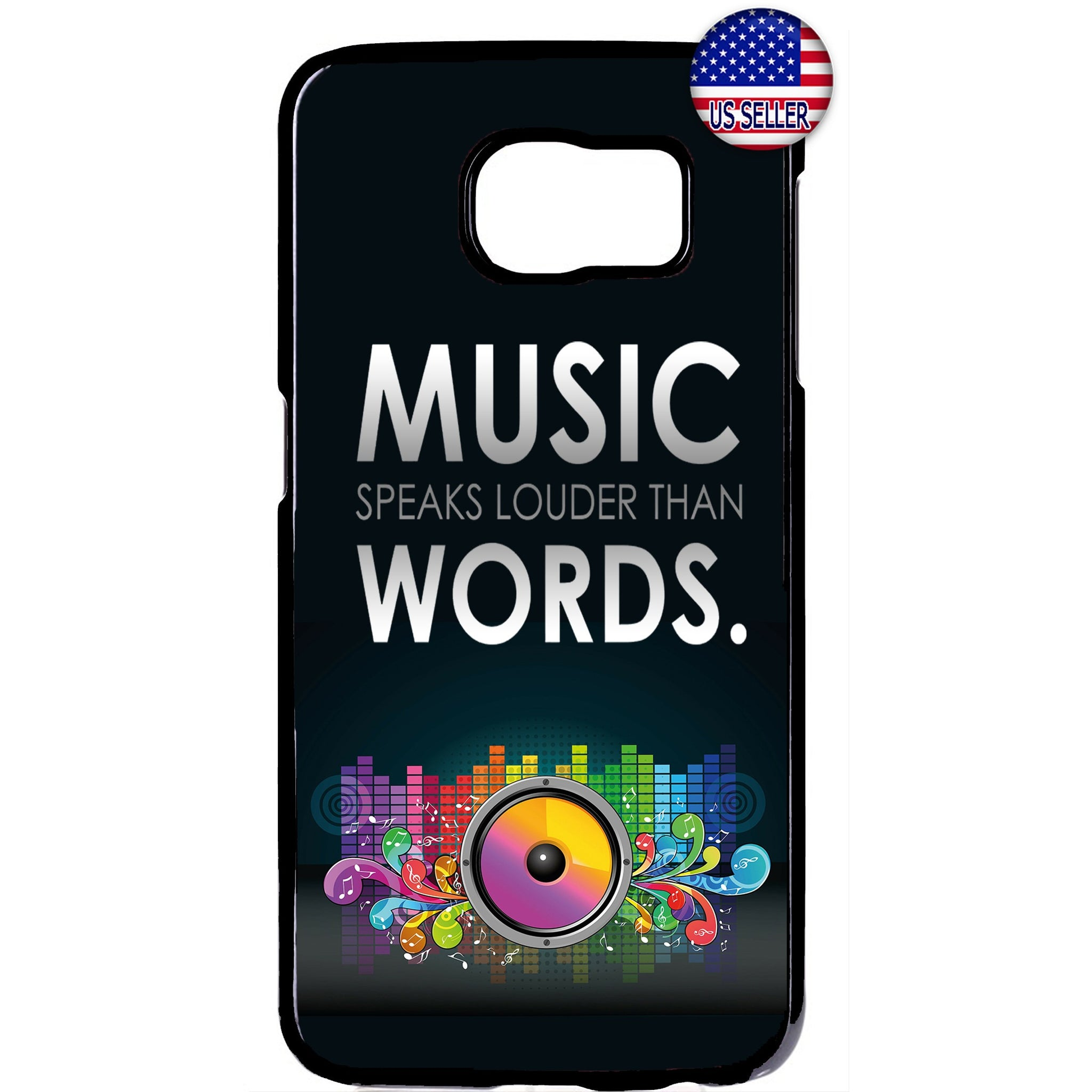 Music Speaks Dancing Rubber Case Cover For Samsung Galaxy