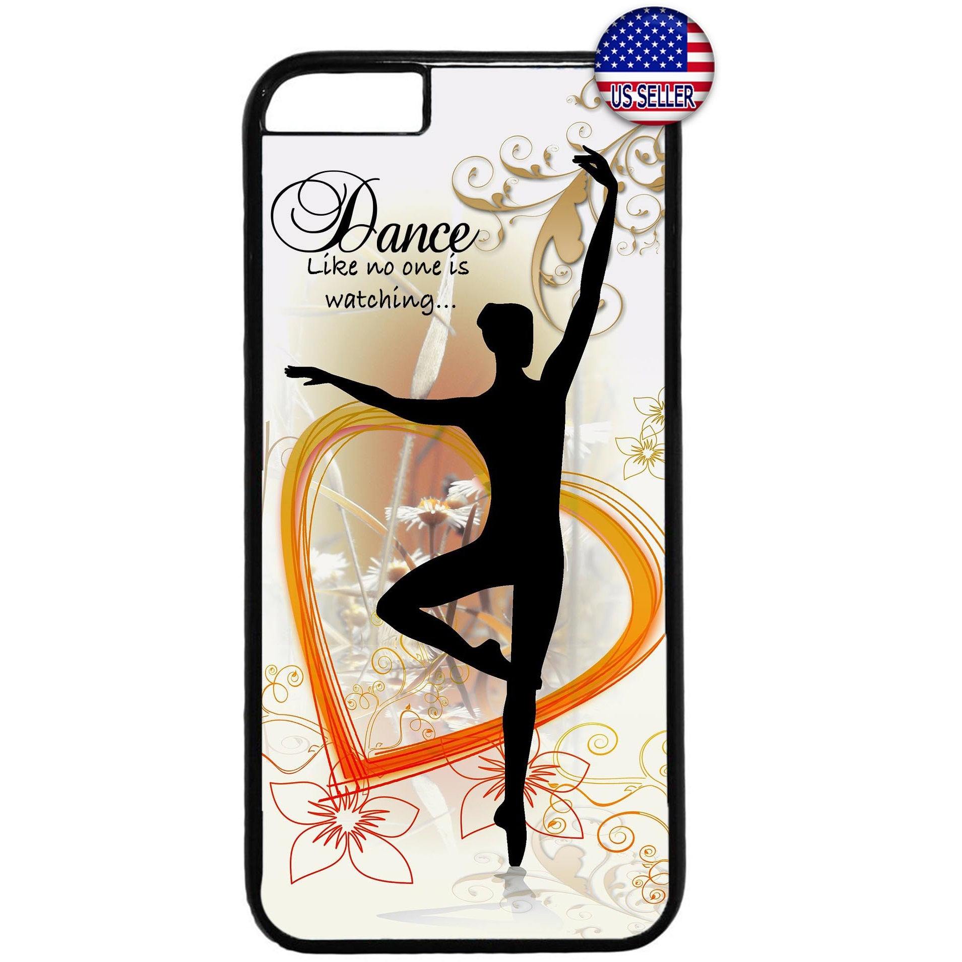 I Love To Dance Ballet Rubber Case Cover For Iphone