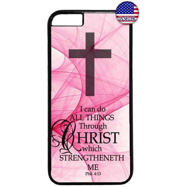 Pink Cross Jesus Christ Christian Bible Rubber Case Cover For Iphone
