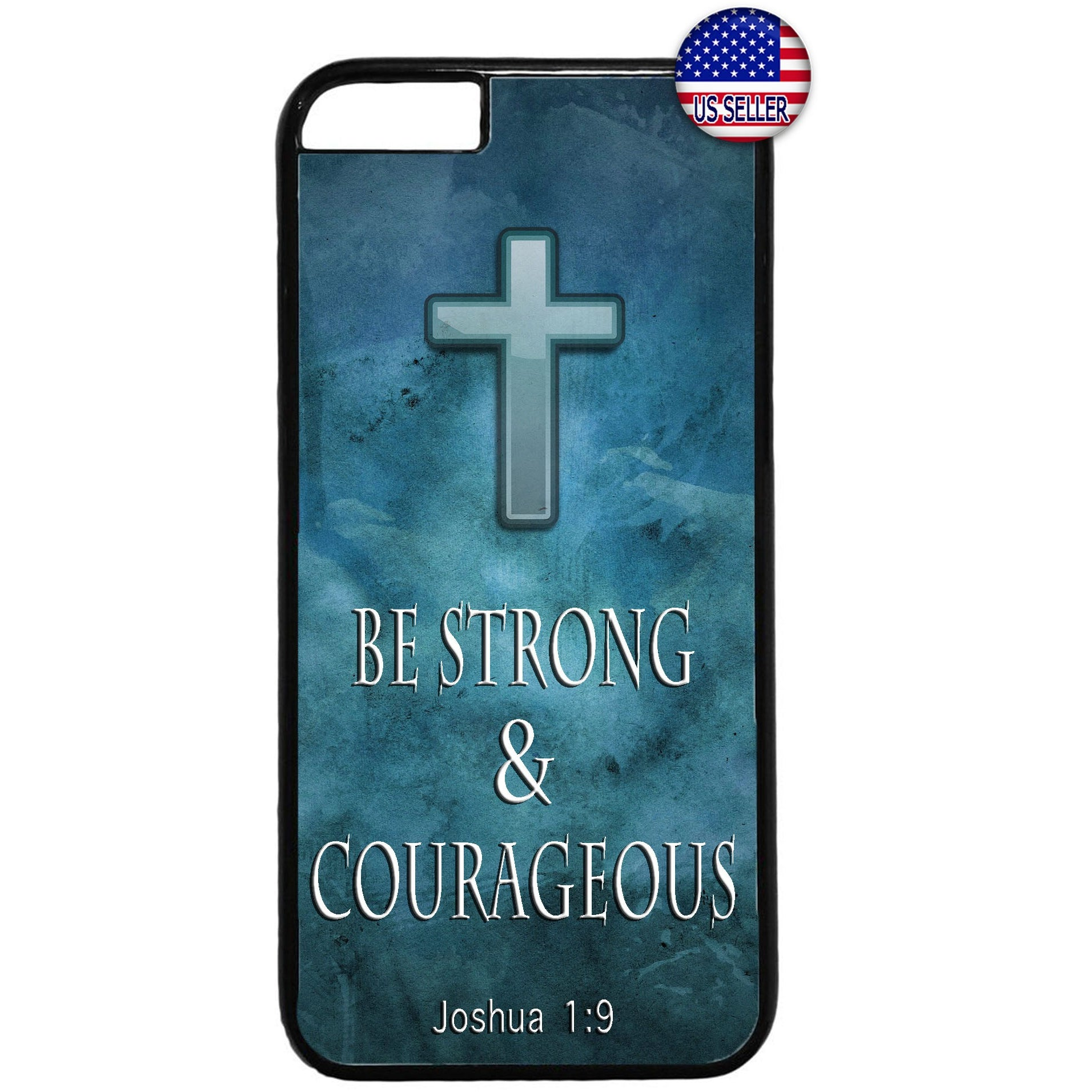 Jesus Christ Cross Courageous Christian Rubber Case Cover For Iphone