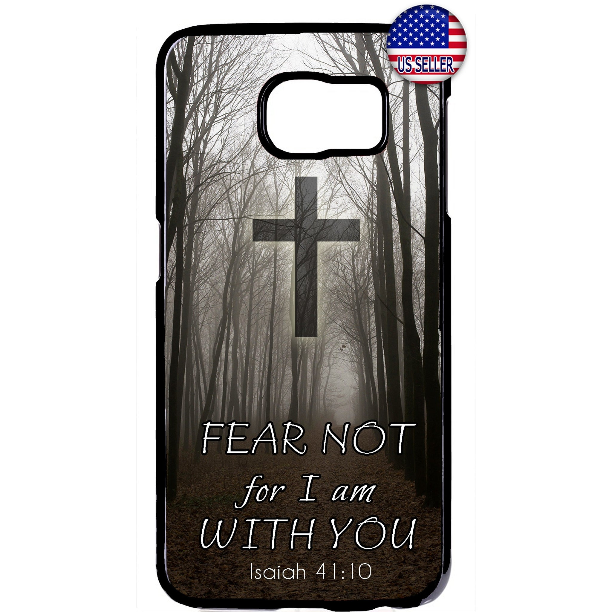 Fear Not I'm With You Cross Rubber Case Cover For Samsung Galaxy