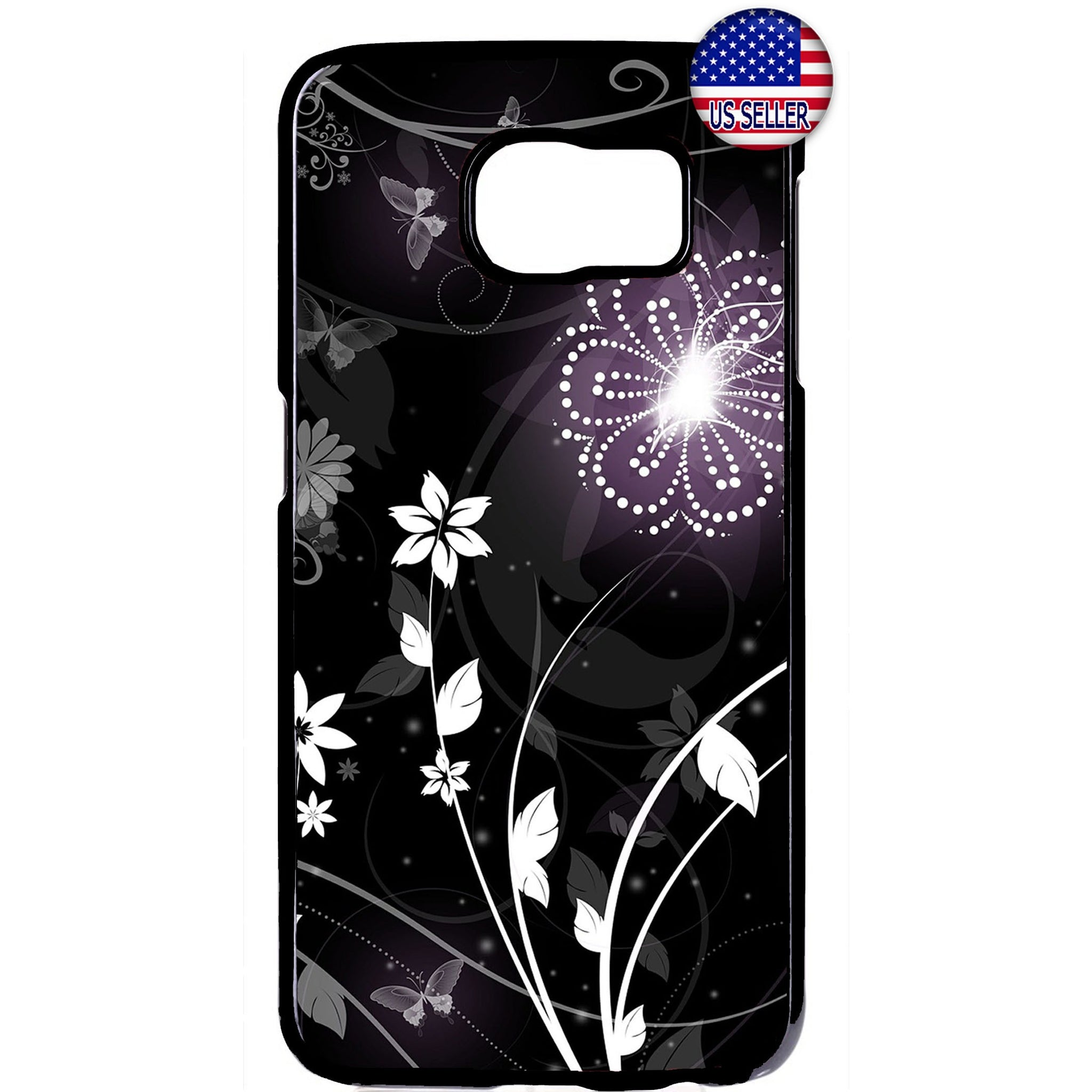 Stylish Floral Flower Rubber Case Cover For Samsung Galaxy